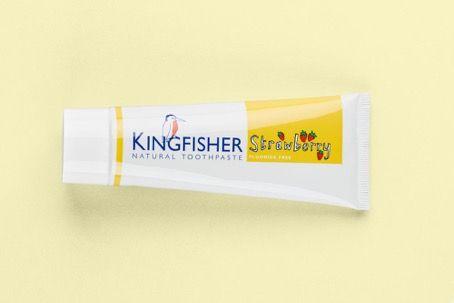 Dětská zubní pasta bez máty a fluoru